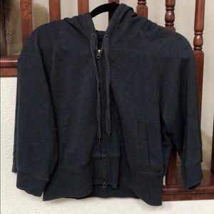 Victoria Secret cropped hooded dark grey jacket